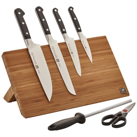 7-pc Knife Set With Bamboo Magnetic Easel block, , large