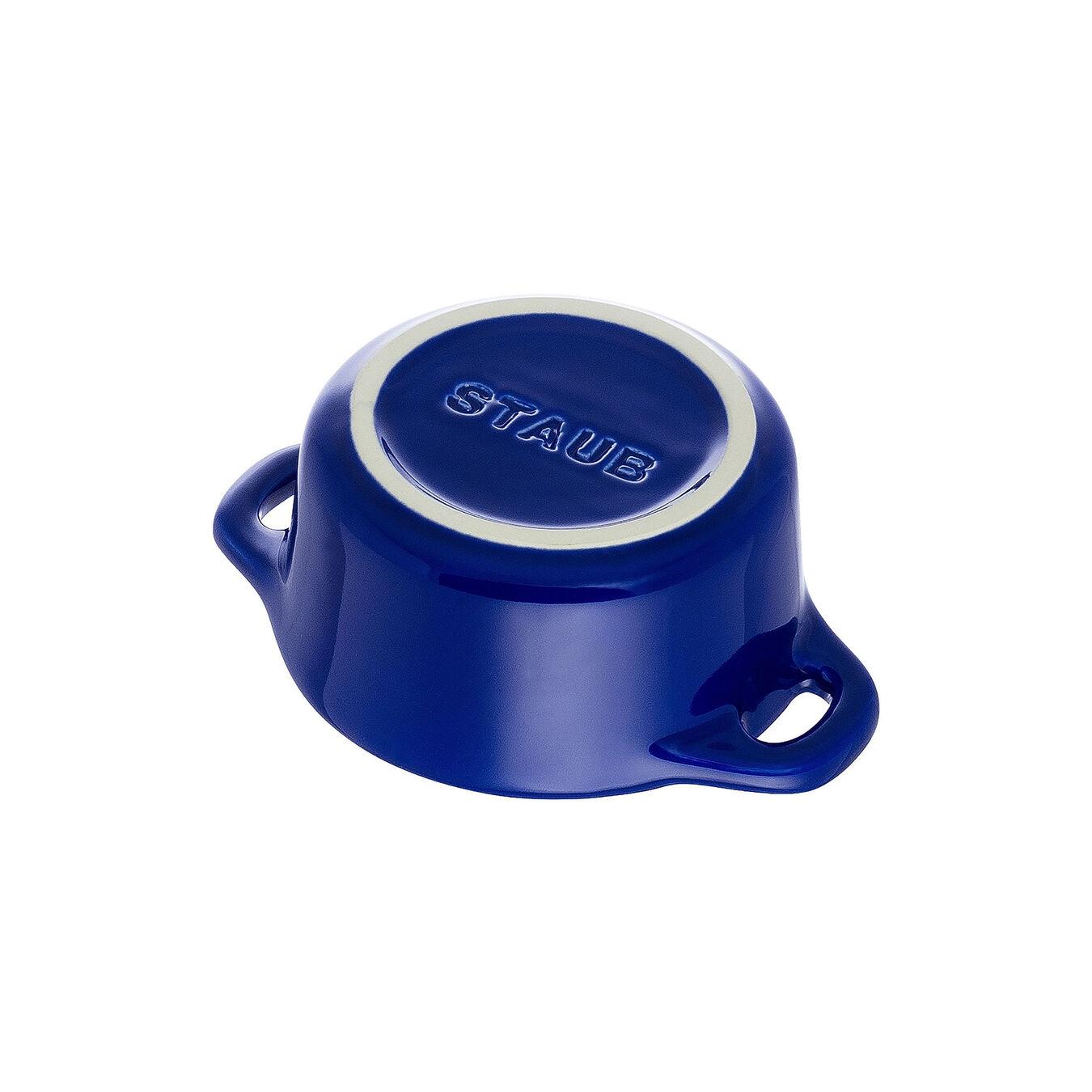 Mini Cocotte 10 cm, Rond(e), Bleu intense, Céramique,,large 5