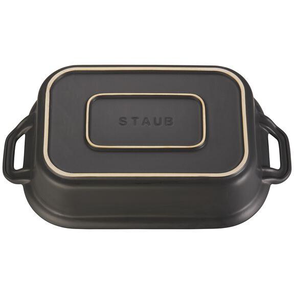 """12"""" x 8"""" Rectangular Covered Baking Dish, Black Matte, , large 3"""