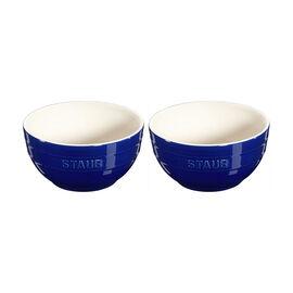Staub Ceramic - Bowls & Ramekins, 2-pc, Large Universal Bowl Set, dark blue