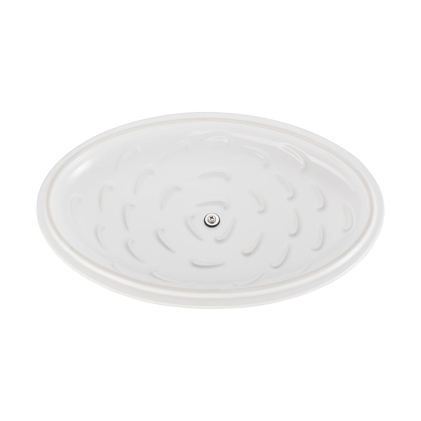 14-inch Oval Covered Baking Dish - White,,large 5