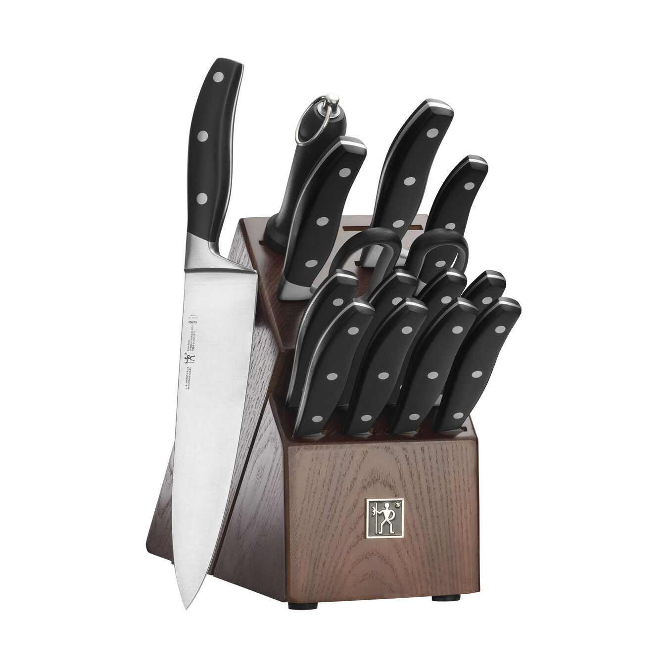 Knife block set, Black Matte,,large 1