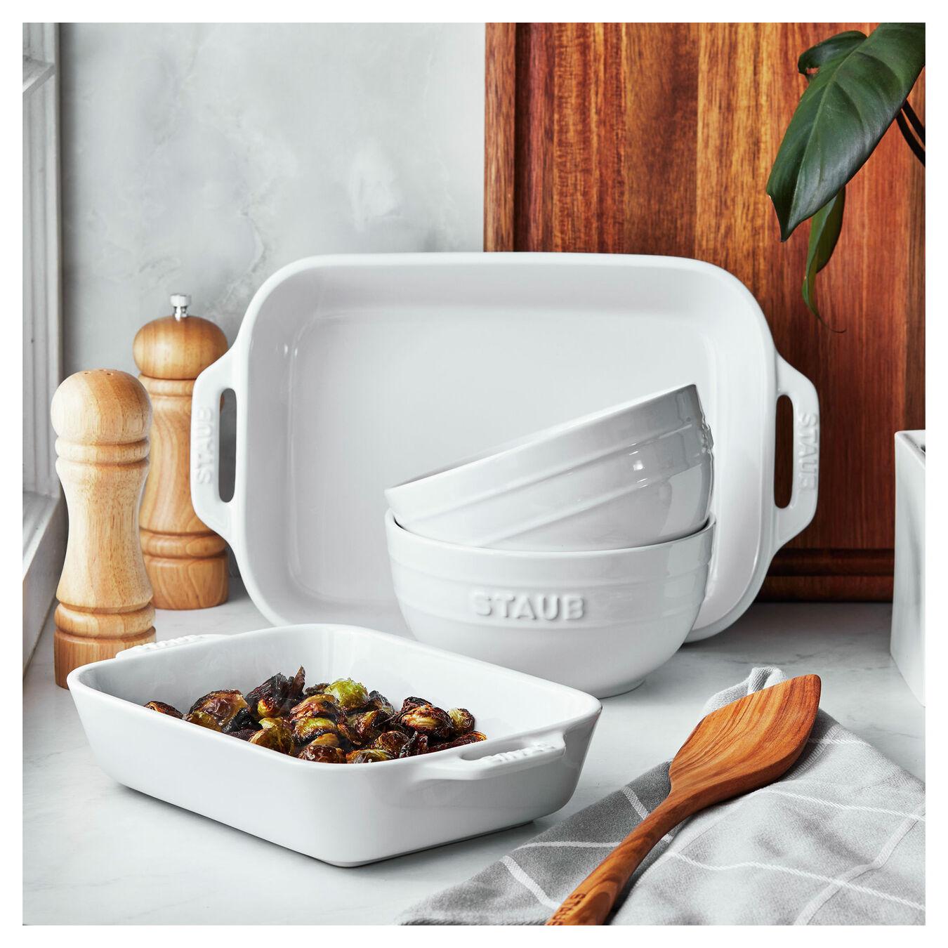 4-pc, Bakeware set, white,,large 4