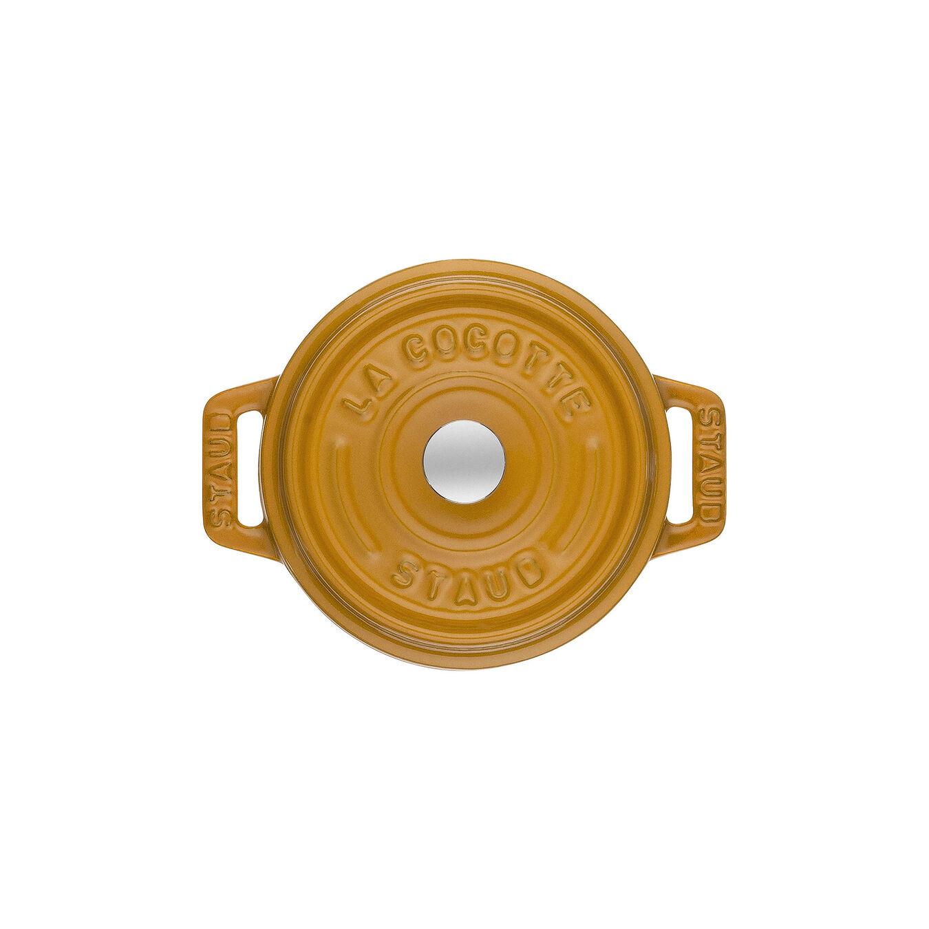 Mini Cocotte 10 cm, rund, Senf, Gusseisen,,large 2