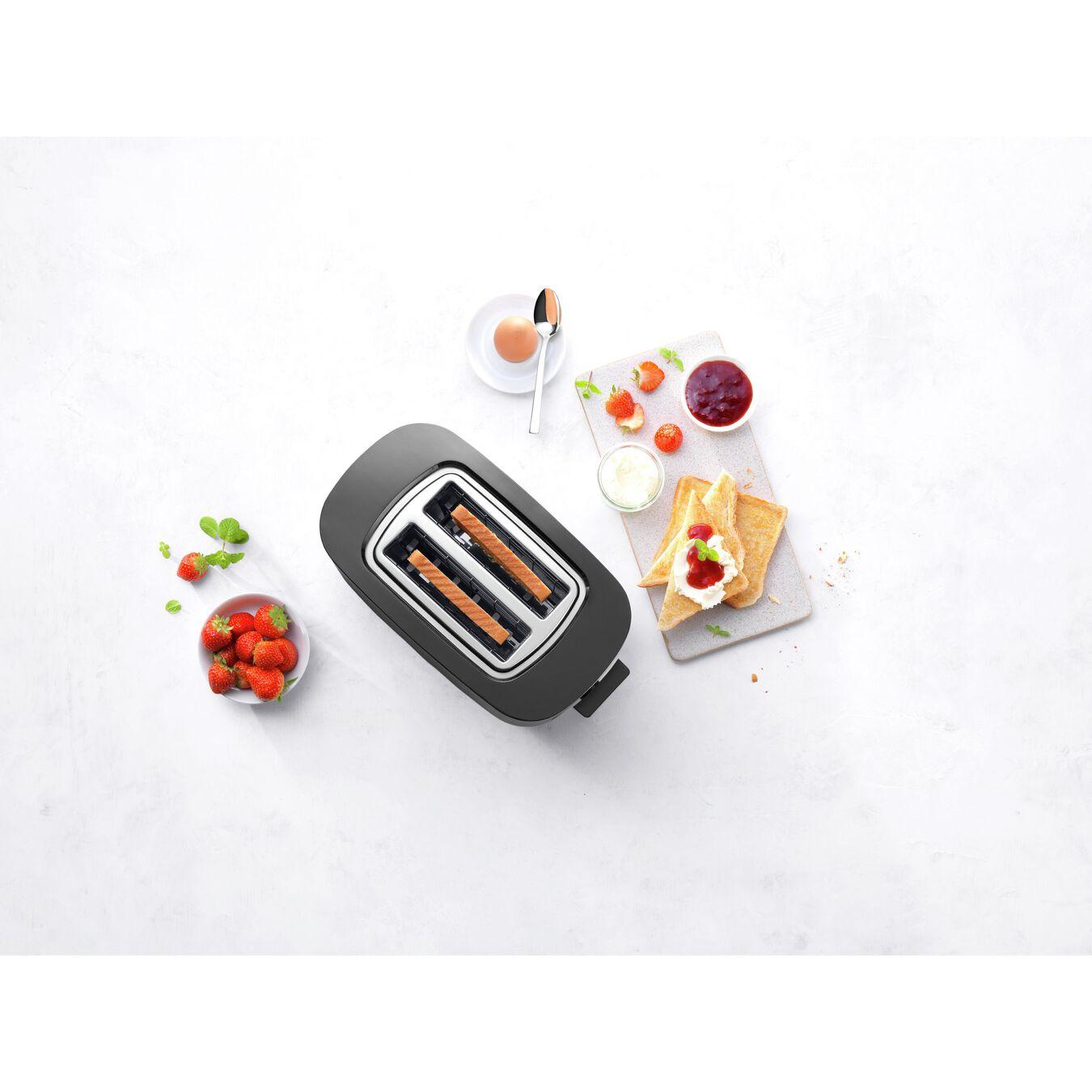 Toaster, 2 Schlitze kurz, Schwarz,,large 4