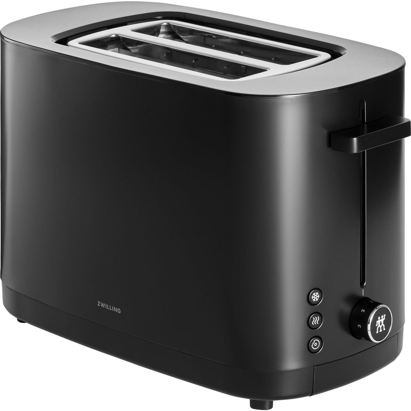 Toaster, 2 Schlitze kurz, Schwarz,,large 1