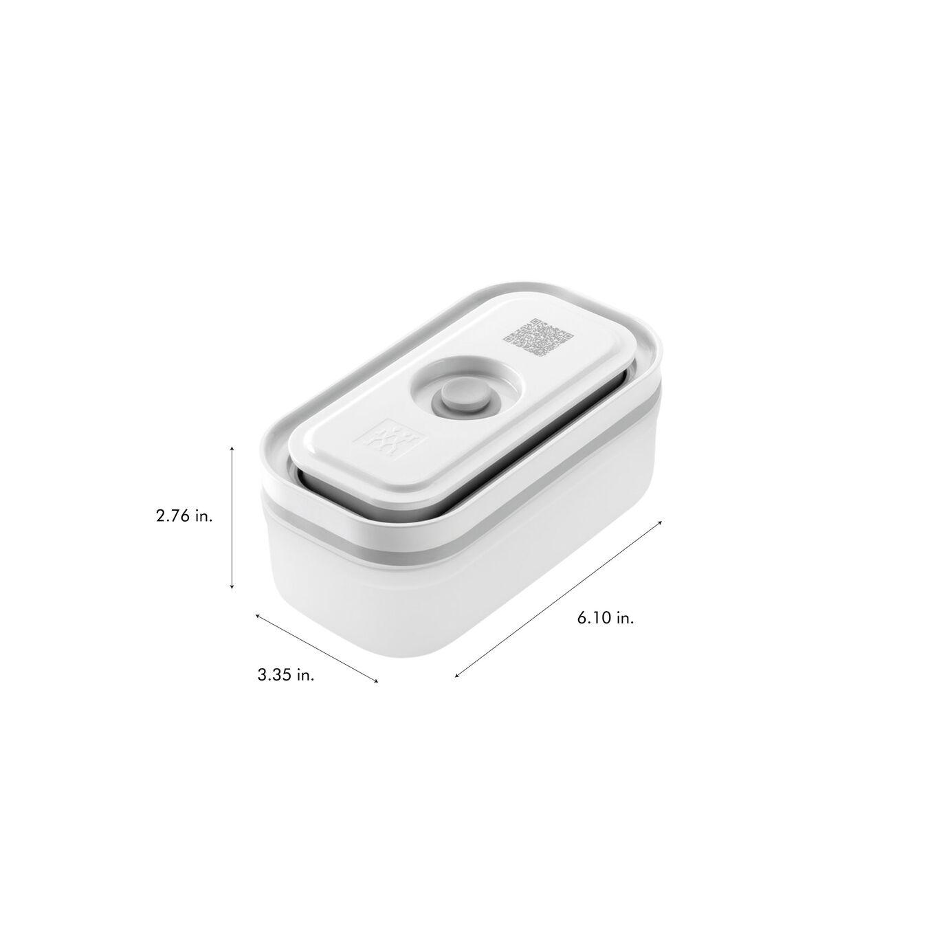 Vacuum Container Set, small/medium/large / 3-pc, Plastic, White,,large 9