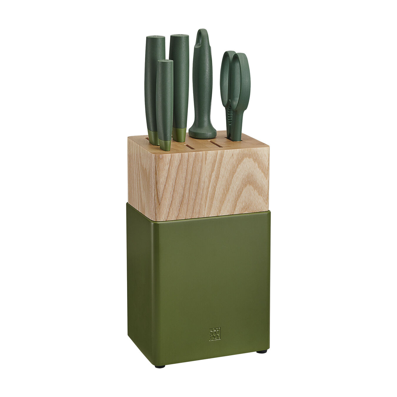 6-pc, Z Now S Knife Block Set, lime green,,large 1
