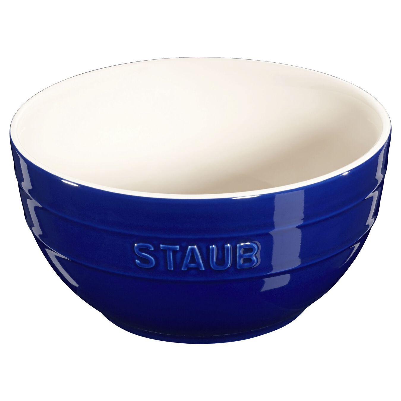 17 cm Ceramic round Bowl, Dark-Blue,,large 1