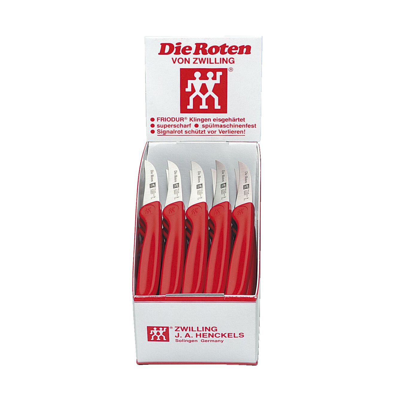 Couteau à éplucher 5 cm, Rouge, Plastique,,large 3