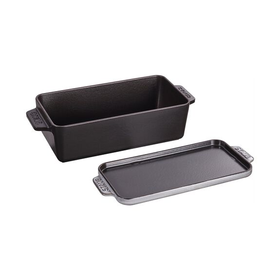 12.75-inch x 5.25-inch Covered Loaf Pan - Graphite Grey,,large 3