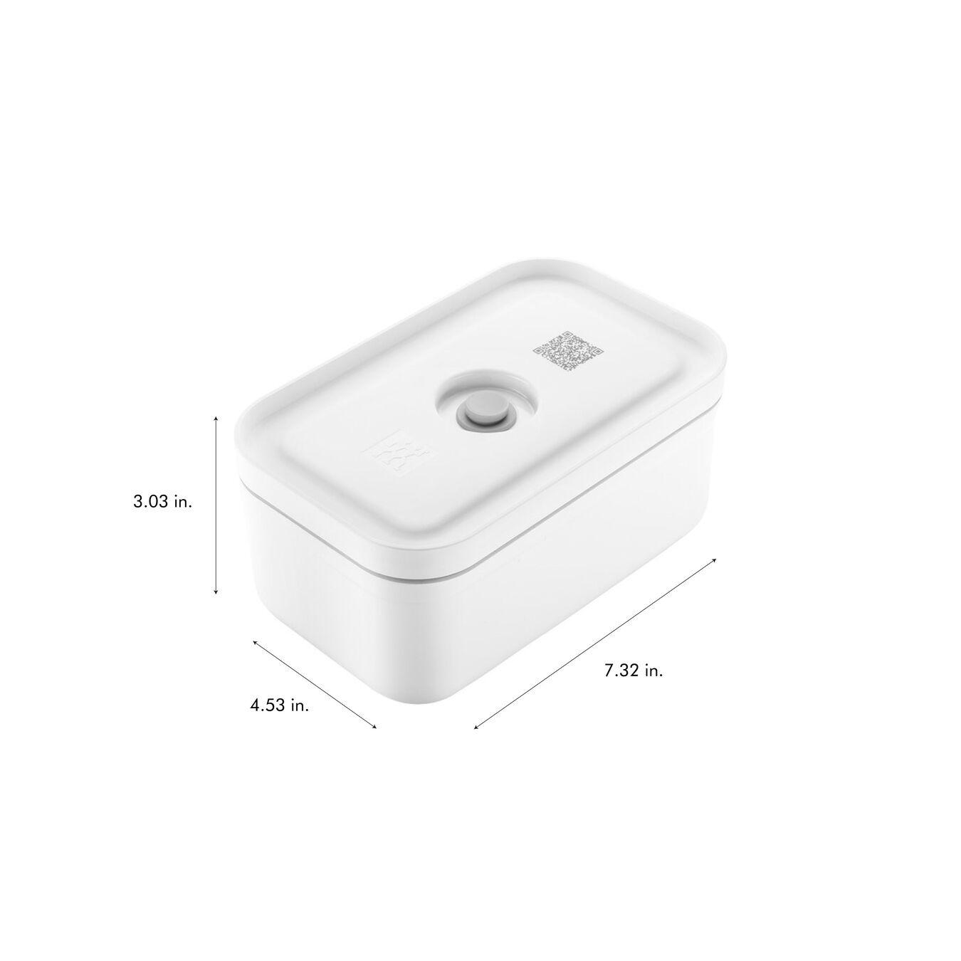 medium Vacuum lunch box, plastic, white,,large 9