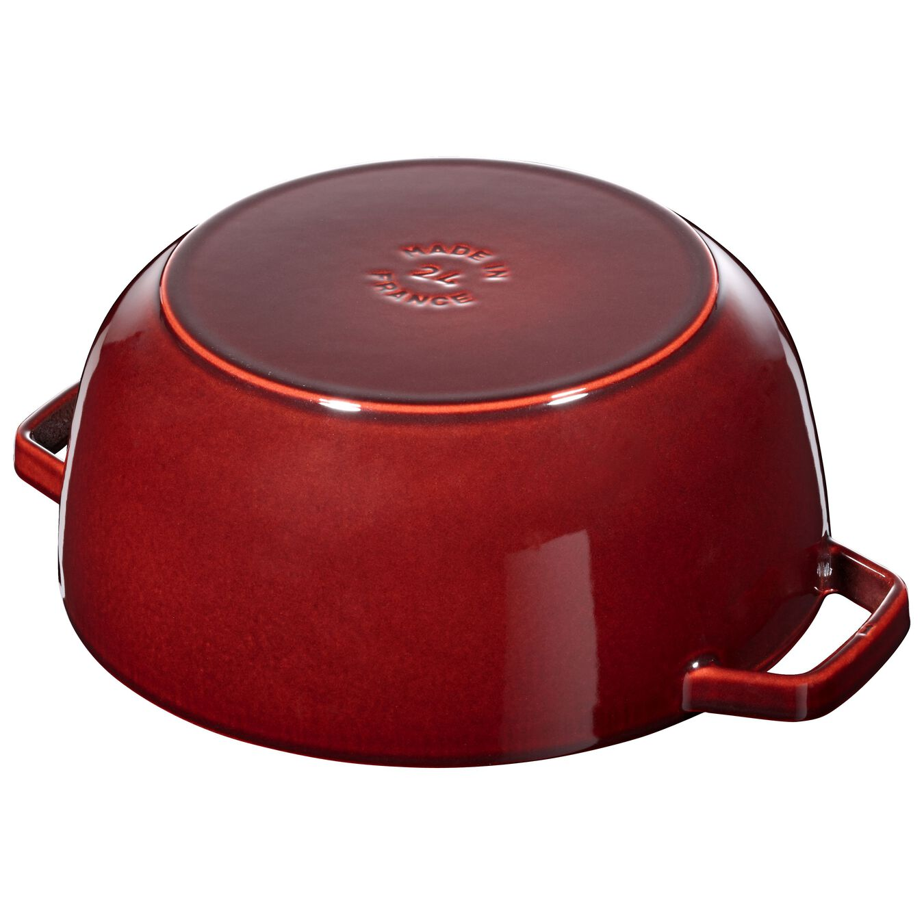 3,6 l Cast iron round Cocotte, Grenadine-Red,,large 4