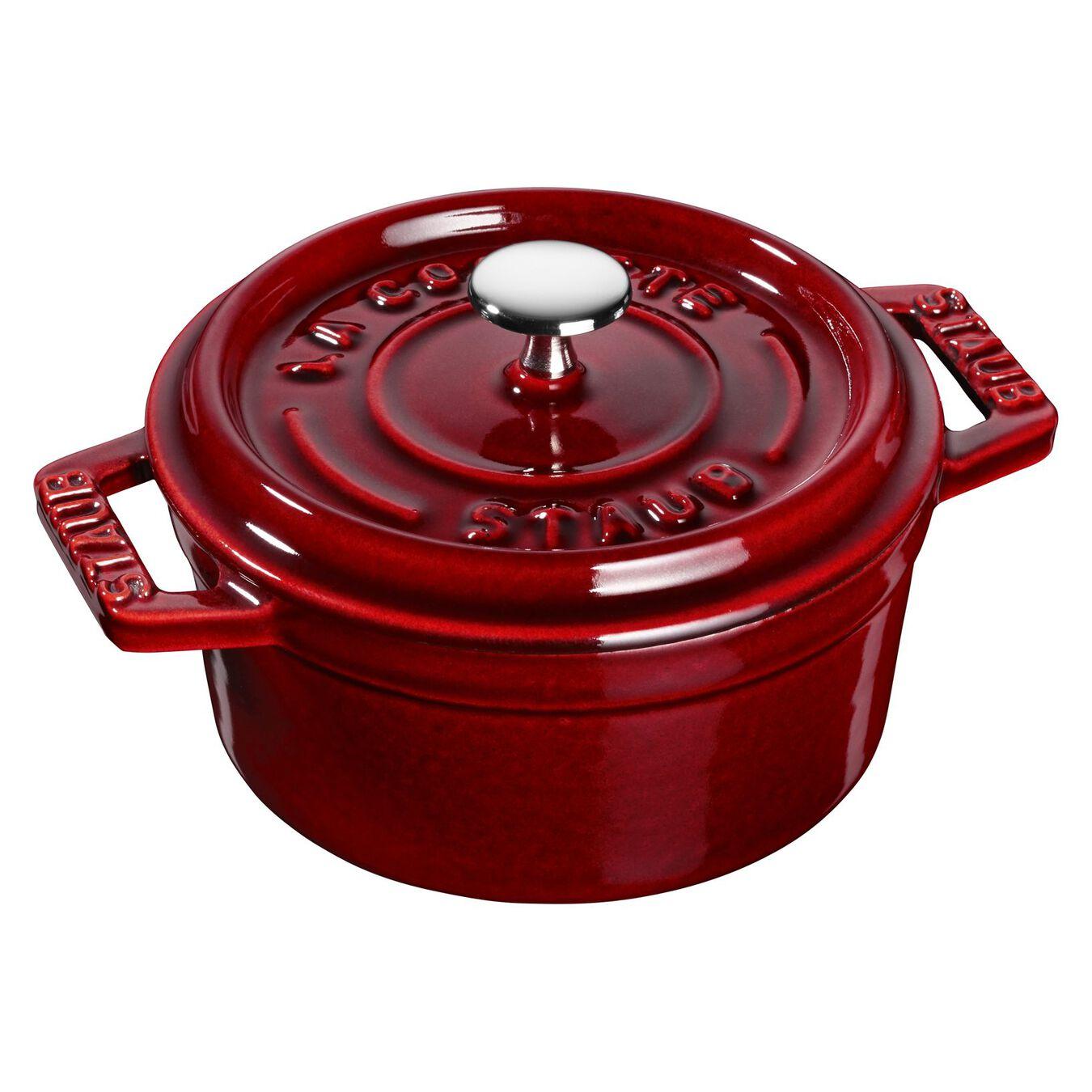 250 ml Cast iron round Mini Cocotte, grenadine-red,,large 2