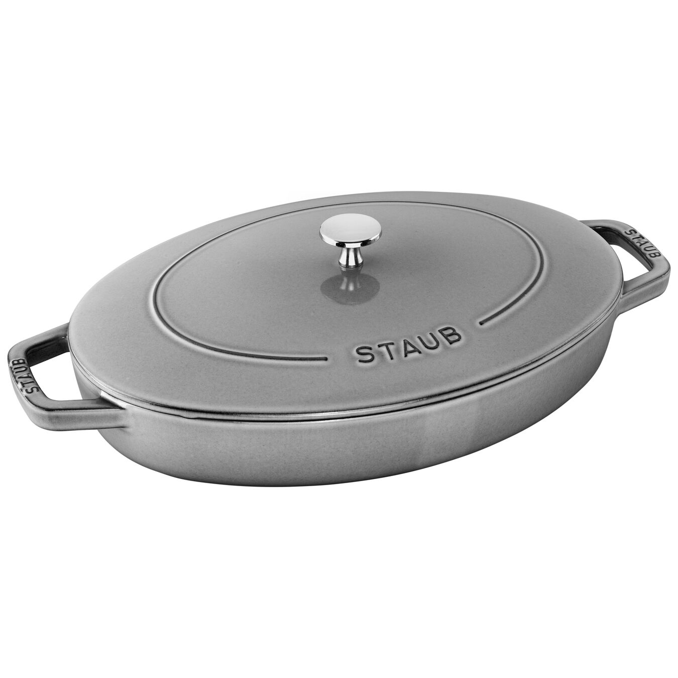 13-inch Cast iron Oven dish with lid,,large 1