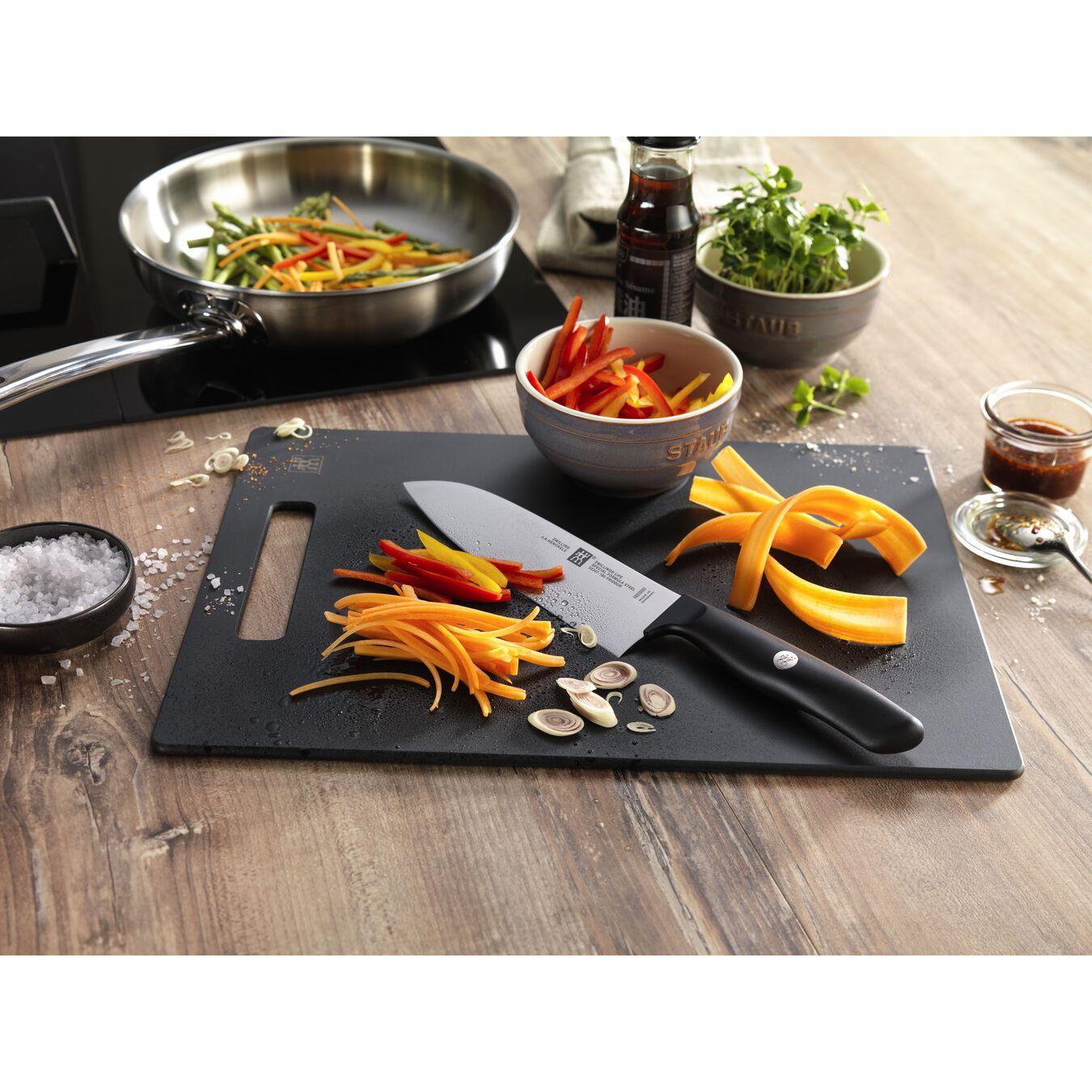 Couteau à légumes 8 cm, Noir, Plastique,,large 3