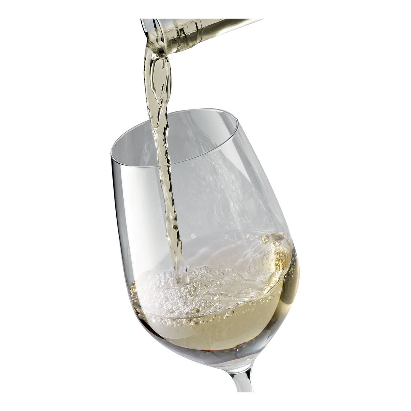 White wine glass set, 6 Piece | transparent,,large 2