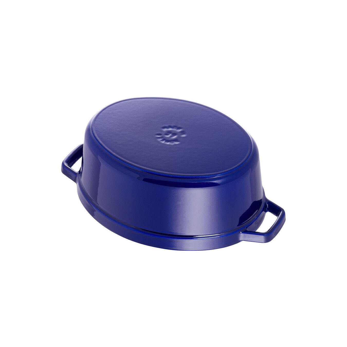 4,25 l Cast iron oval Faitout, Dark-Blue,,large 4
