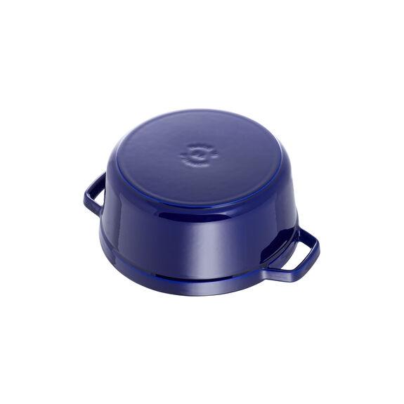 Döküm Tencere, 22 cm | Koyu Mavi | Yuvarlak | Döküm Demir,,large 5