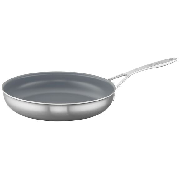 11-inch Stainless Steel Ceramic Nonstick Fry Pan,,large 2