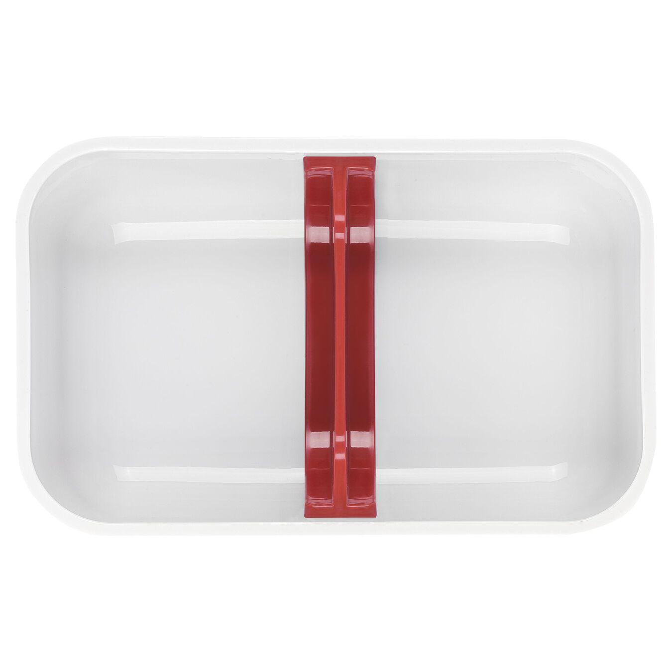 Vakuum Lunchbox, M, Kunststoff, Weiß-Rot,,large 4