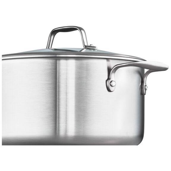 3-ply 6-qt Stainless Steel Ceramic Nonstick Dutch Oven,,large 2
