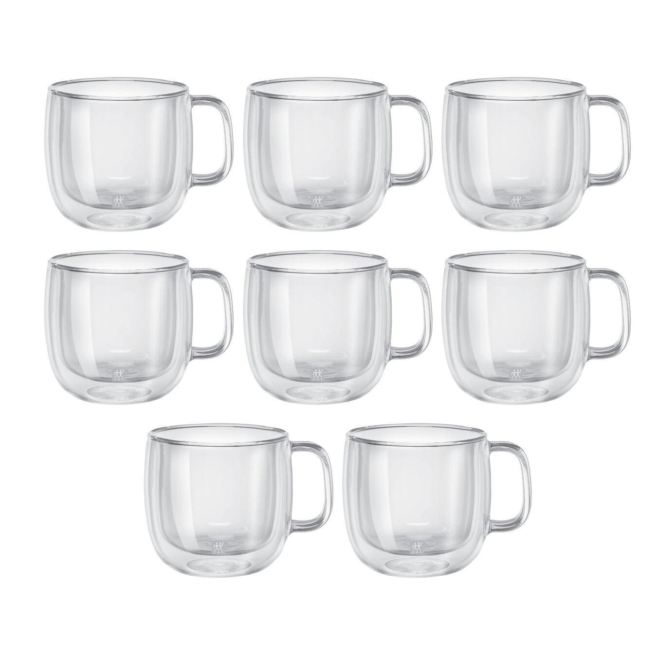 8 Piece Cappuccino Mug Set - Value Pack,,large 1