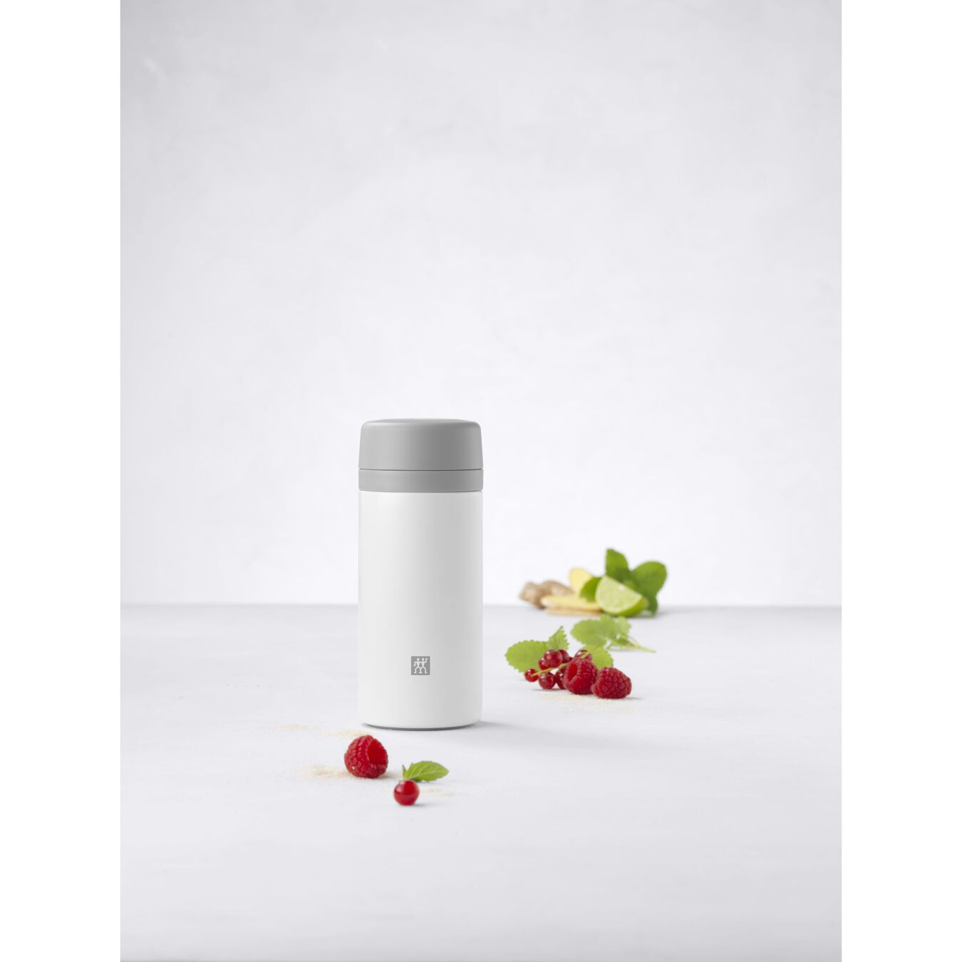 Thermosfles, 420 ml | Roestvrij staal | Wit-Grijs,,large 6