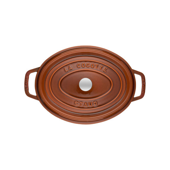 4.25-qt Coq au Vin Cocotte - Burnt Orange,,large 5
