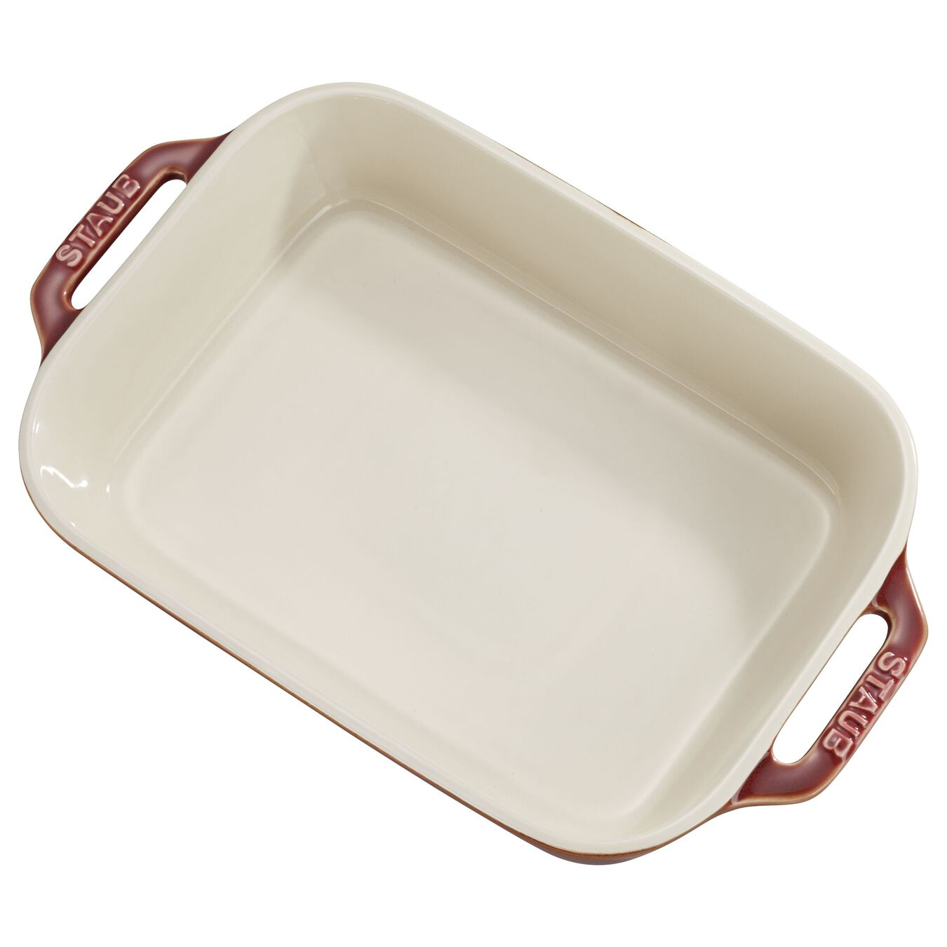 2-pcs square Ensemble plats de cuisson pour le four, Red,,large 1