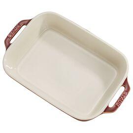 Staub Ceramique, 2-pcs square Ensemble plats de cuisson pour le four, Red
