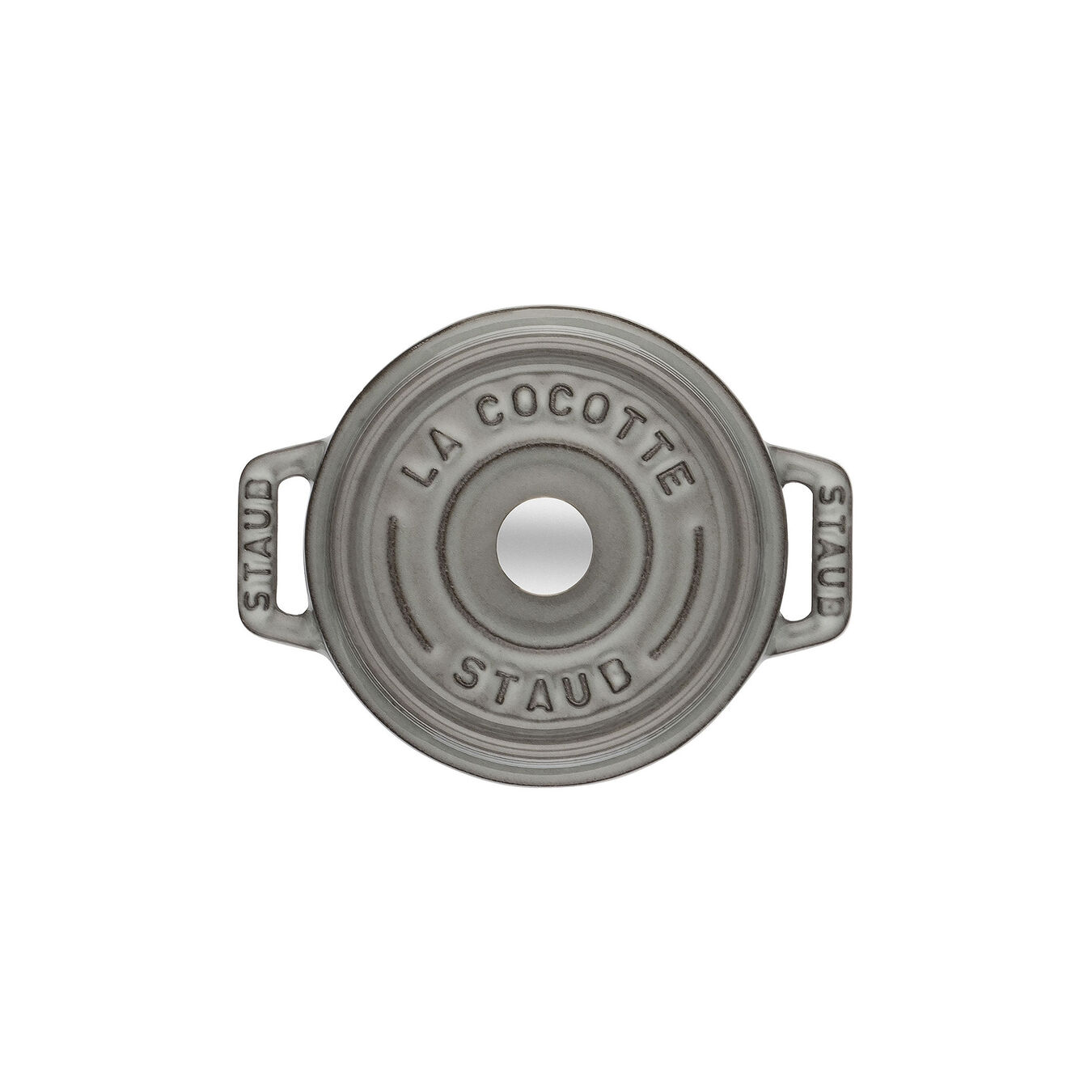Mini Cocotte 10 cm, rund, Graphit-Grau, Gusseisen,,large 2