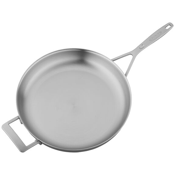 12.5-inch Stainless Steel Fry Pan with Helper Handle,,large 4