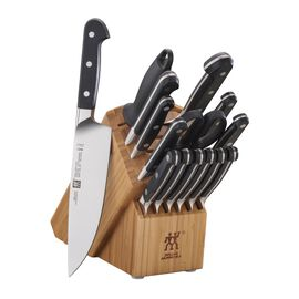 ZWILLING Pro, 16-pc, Knife block set, bamboo