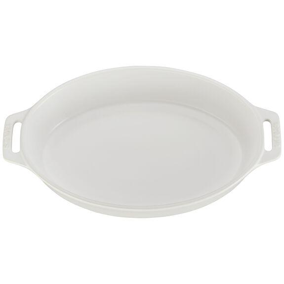 """11"""" Oval Baking Dish, Matte White, , large"""