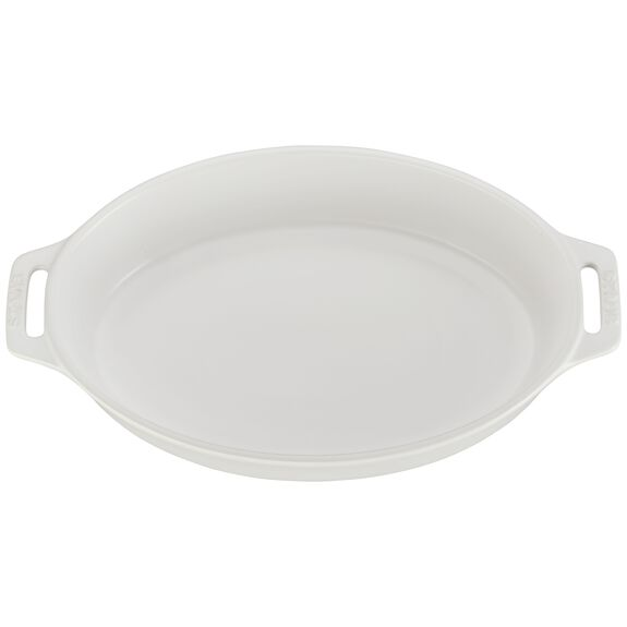 11-inch Oval Baking Dish, Matte White, , large 2