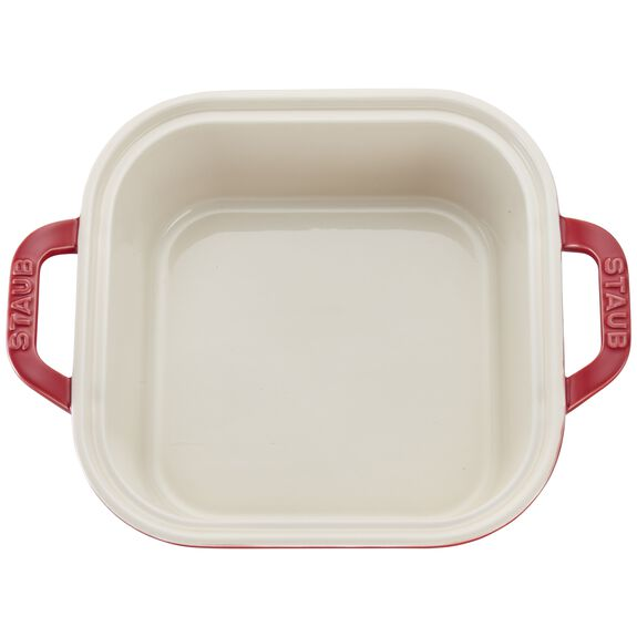 9-inch x 9-inch Square Covered Baking Dish, Cherry, , large 2