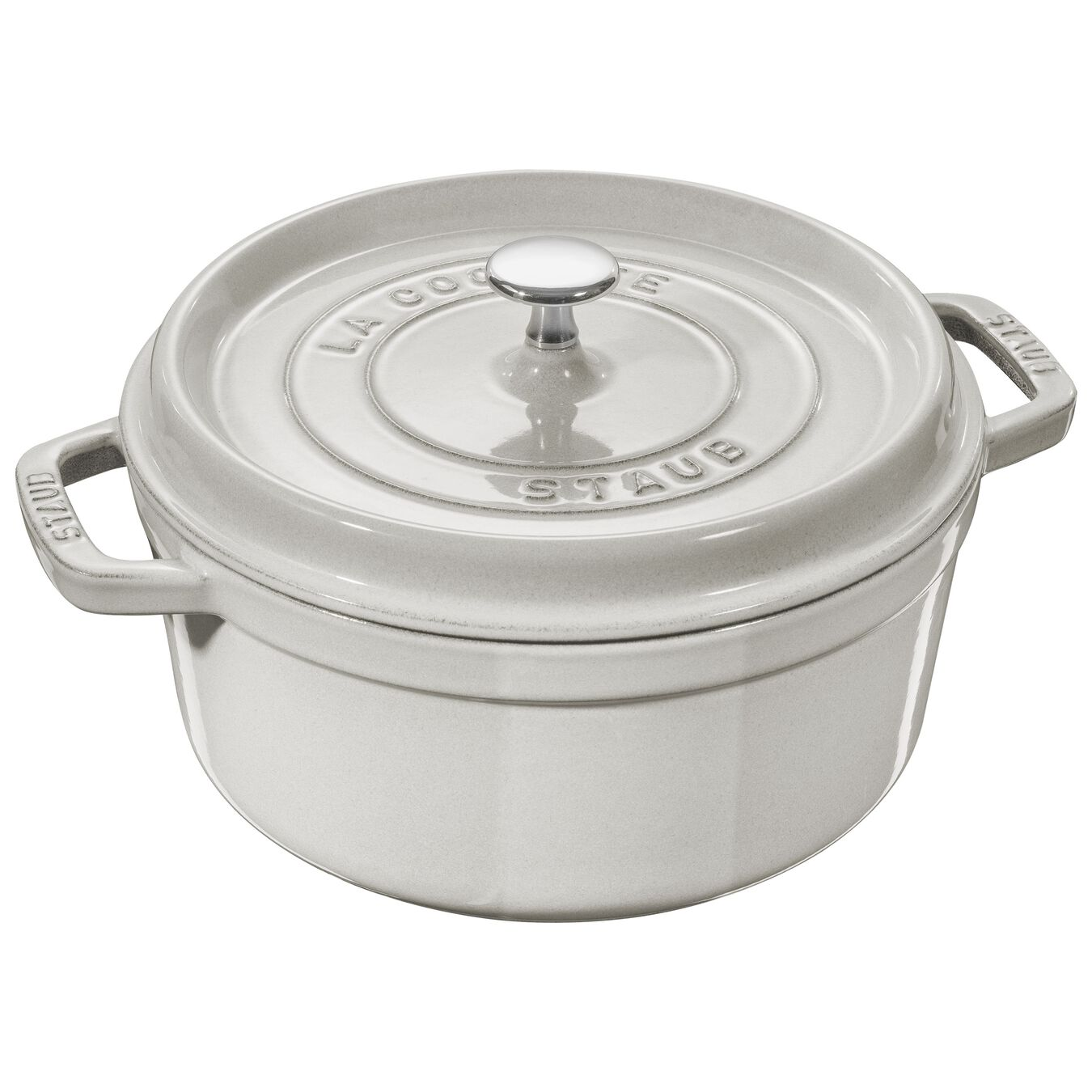 5.25 l round Cocotte, white truffle,,large 1