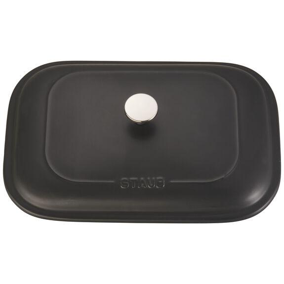 """12"""" x 8"""" Rectangular Covered Baking Dish, Black Matte, , large 4"""