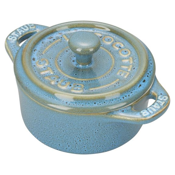 3-pc Mini Round Cocotte Set, Rustic Turquoise, , large 3