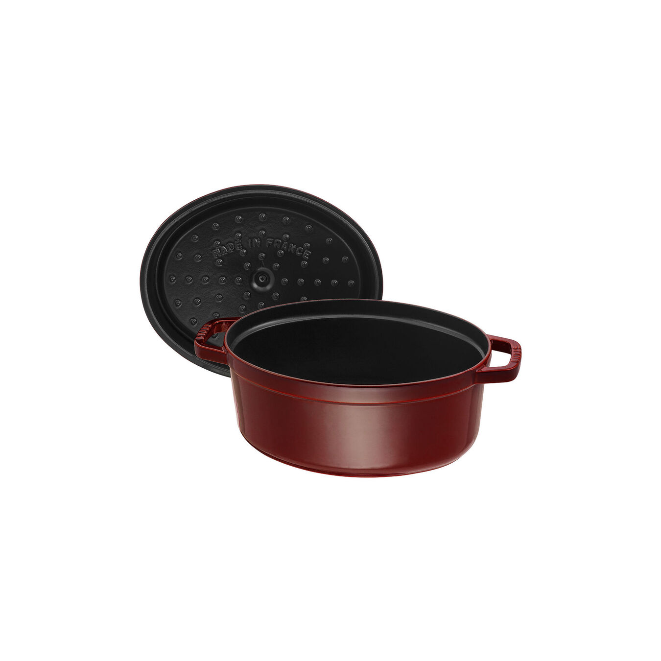 4,25 l Cast iron oval Faitout, Grenadine-Red,,large 5