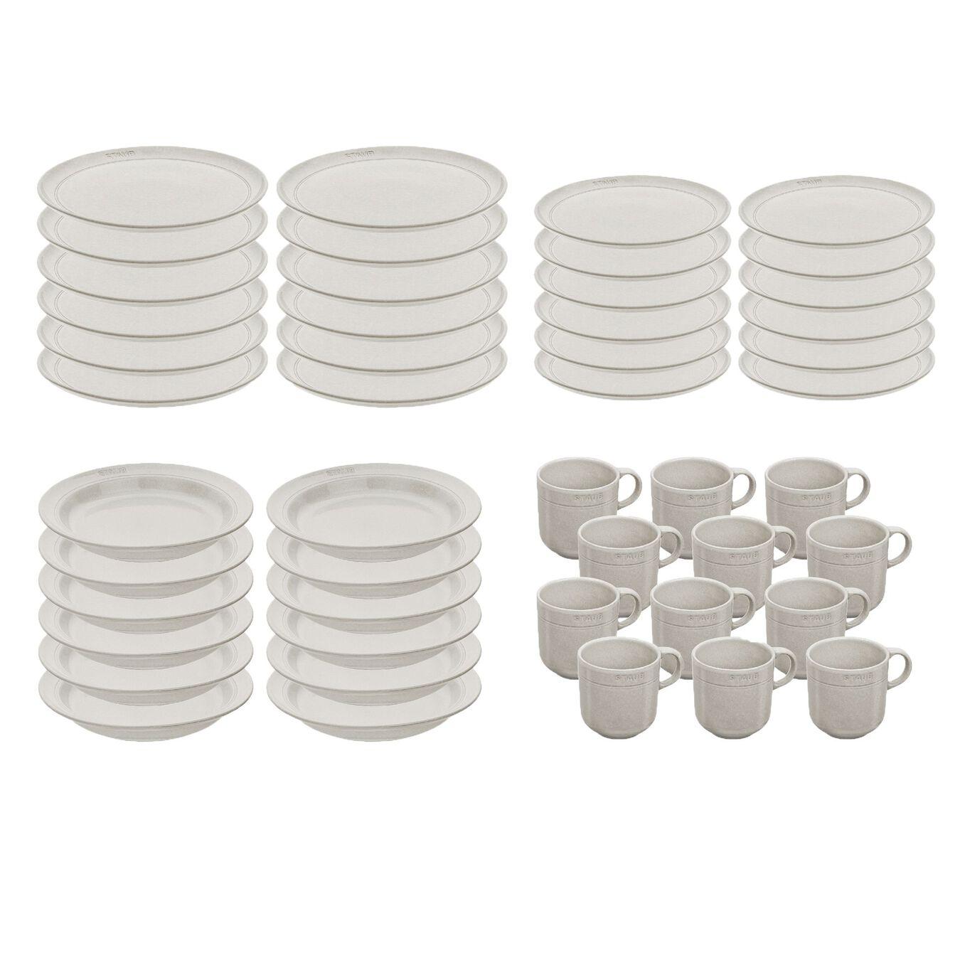 Set de service, 45-pcs | White Truffle | Ceramic | Ceramic,,large 1