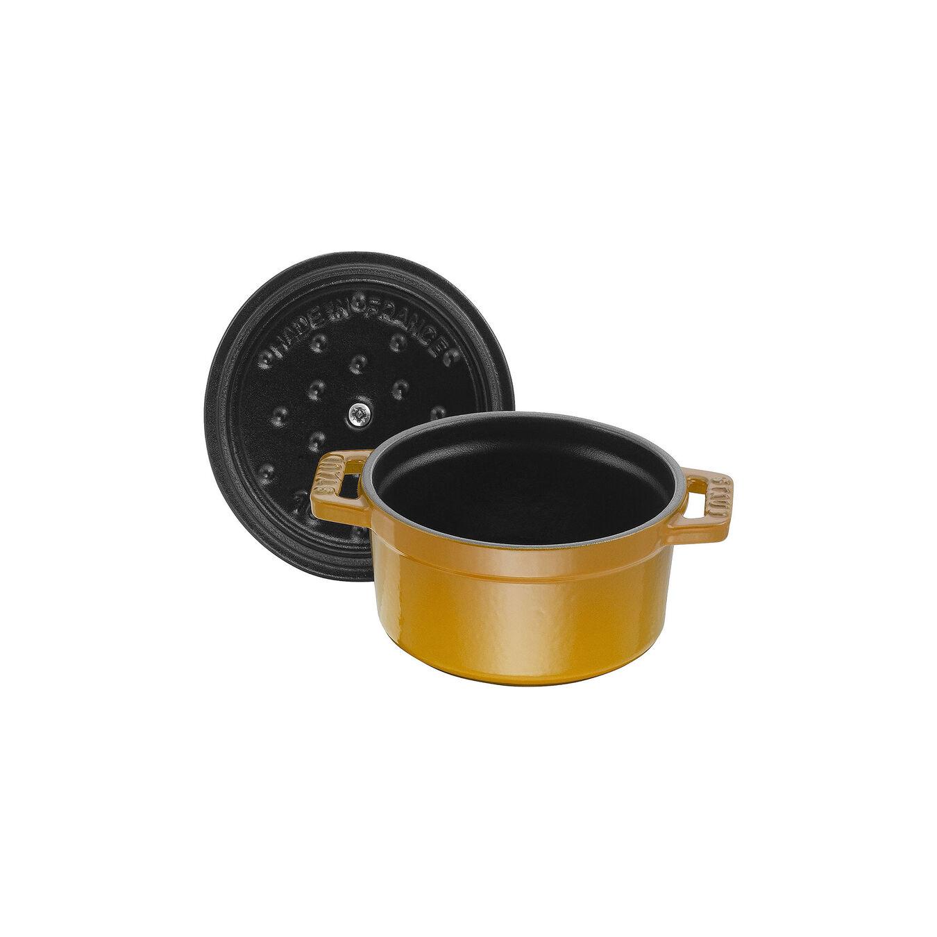 Mini Cocotte 10 cm, Rond(e), Moutarde, Fonte,,large 5