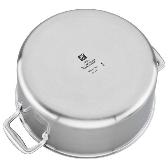 3-ply 8-qt Stainless Steel Stock Pot,,large