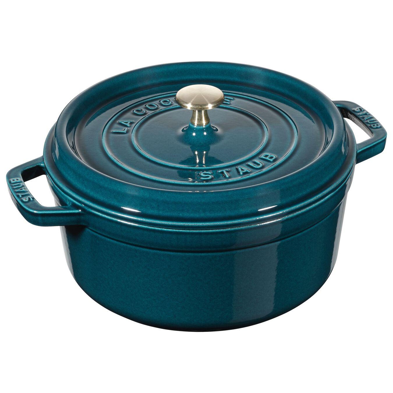 Cocotte 22 cm, Rond(e), Blue La-Mer, Fonte,,large 1