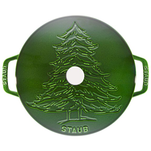 3.75-qt Essential French Oven w/Pine Tree Lid - Visual Imperfections - Basil,,large 2