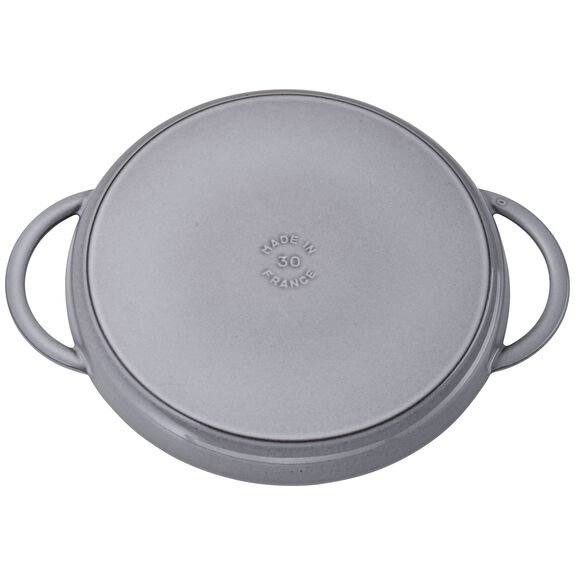 12-inch Chicken al Mattone Griddle & Press Set - Graphite Grey,,large 4