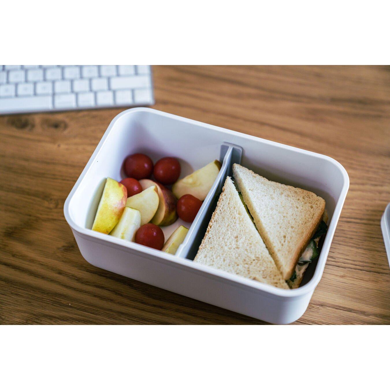 large Vacuum lunch box, Plastic, white,,large 6