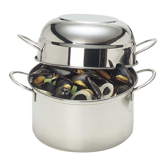20-cm round  Mussel pot, (no colour),,large