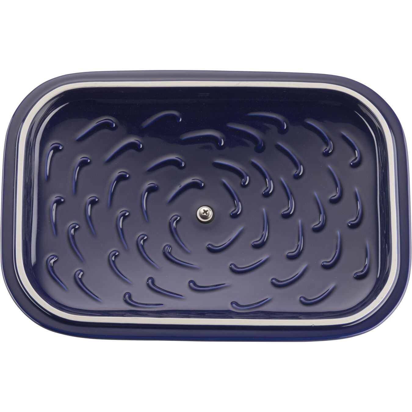 12-inch x 8-inch Rectangular Covered Baking Dish - Dark Blue,,large 3